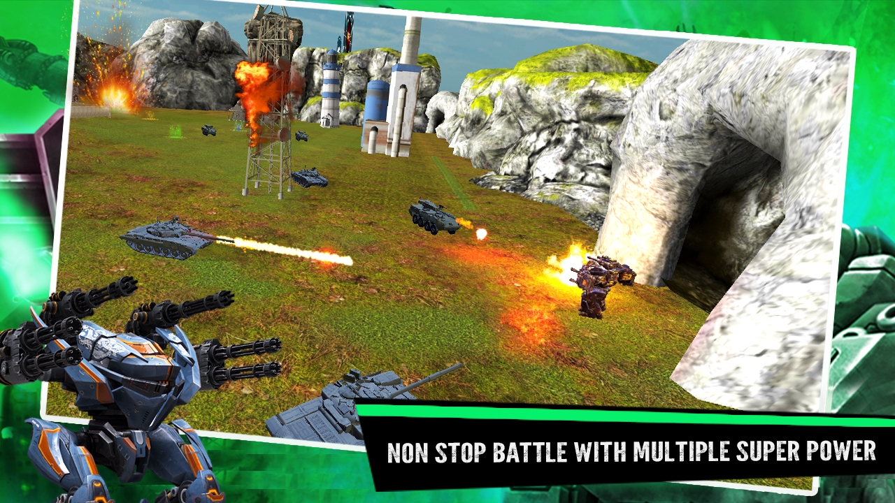 guerra de robots - batalla de mech juego de lucha de robots gratis: Amazon.es: Appstore para Android