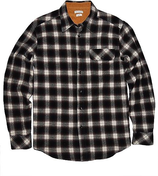 Mens Regular Fit Cotton Flannel Plaid Shirt Quality Durables Co
