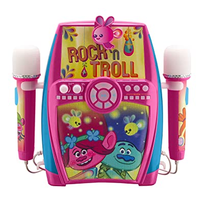 Trolls Deluxe Sing Along Boombox with Dual Microphones: Toys & Games