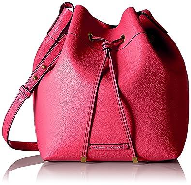 50f8f7fd8801 A X Armani Exchange Pebble Pu Bucket Bag