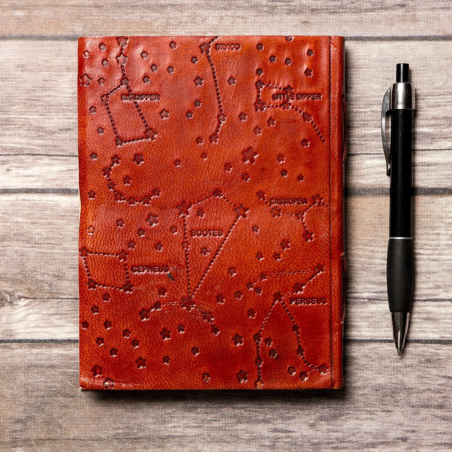 Leo Leather Journal/Zodiac Handmade Journal/Astrology Journal/Horoscope  Journal/Gifts for Him/Travel Journal/Sketchbook / Embossed Genuine Leather