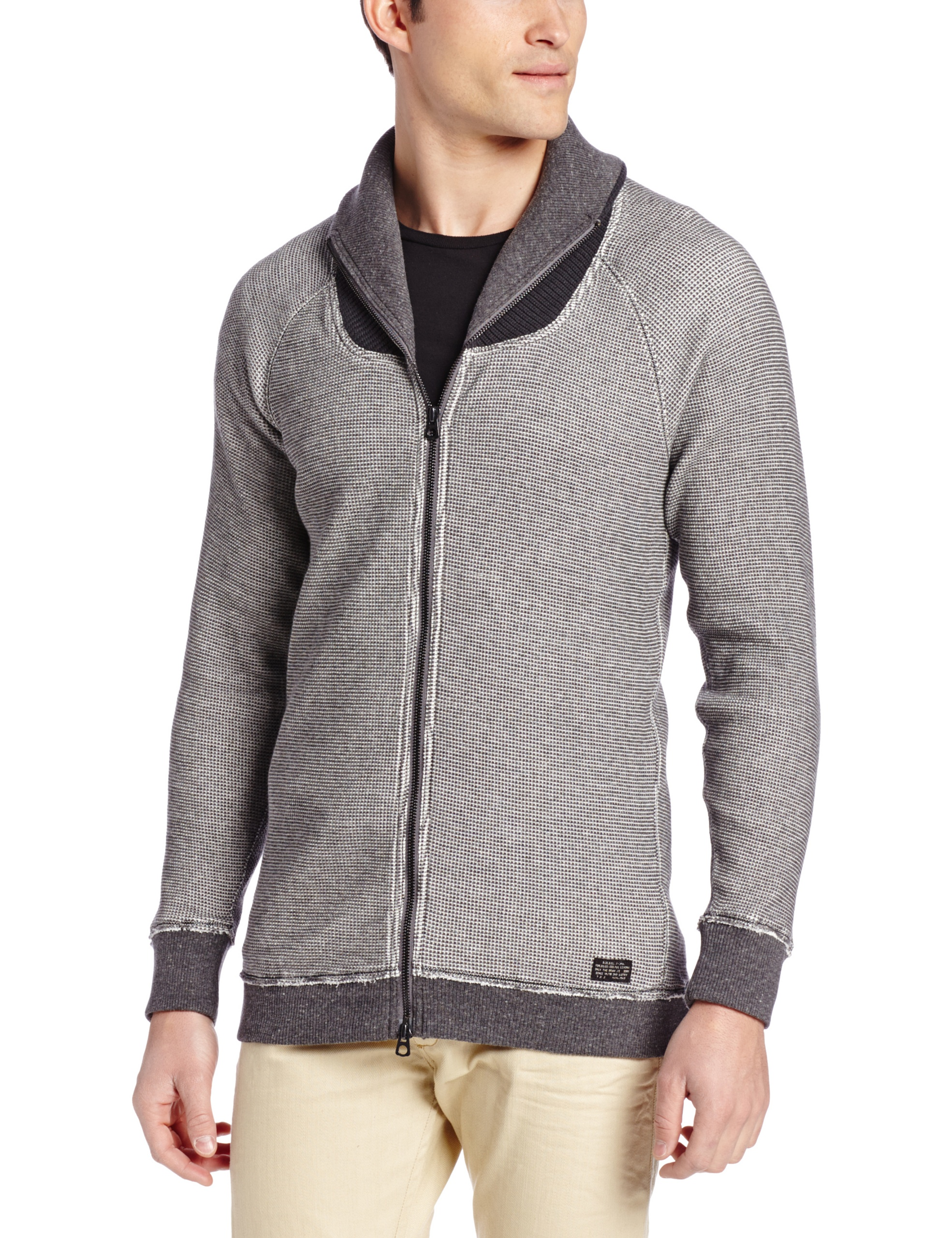 Diesel Men's Sylvestre Sweater,  Cold Stone, X-Large