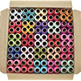 DECCAN 100 Thread Spools (25 Shades, each 4 in no.) ASSORTED SET A