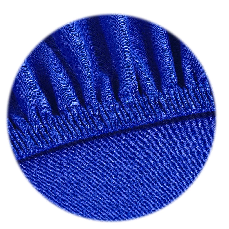 Sábana Ajustable Jersey Timeless - todos los tamaños y colores - 100% algodón - 180 a 200 x 200 cm - azul azul / real: Amazon.es: Hogar