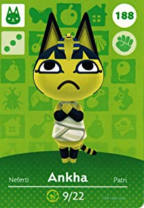Nintendo Animal Crossing Happy Home Designer Amiibo Card Ankha 188/200 USA Version