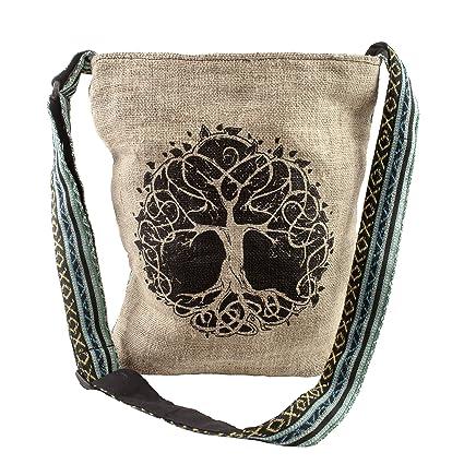 720cef775de2 Casual Lightweight Hemp Tree of Life Purse crossbody bag sling bag boho  hippie