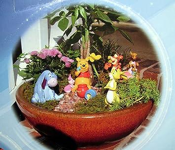 Delicieux Disney 6 Piece Winnie The Pooh FAIRY GARDEN SET
