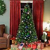 9071cc1848d Best Choice Products 7ft Pre-Lit Fiber Optic Artificial Christmas Pine Tree  w  280