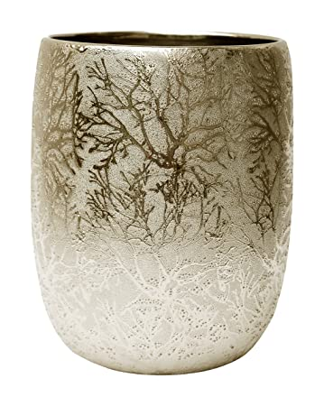 bathroom wastebasket. BathSense GL1002C Ceramic Bathroom Wastebasket  Trash Can Refuse Disposal Bin Gold Leaf Amazon com