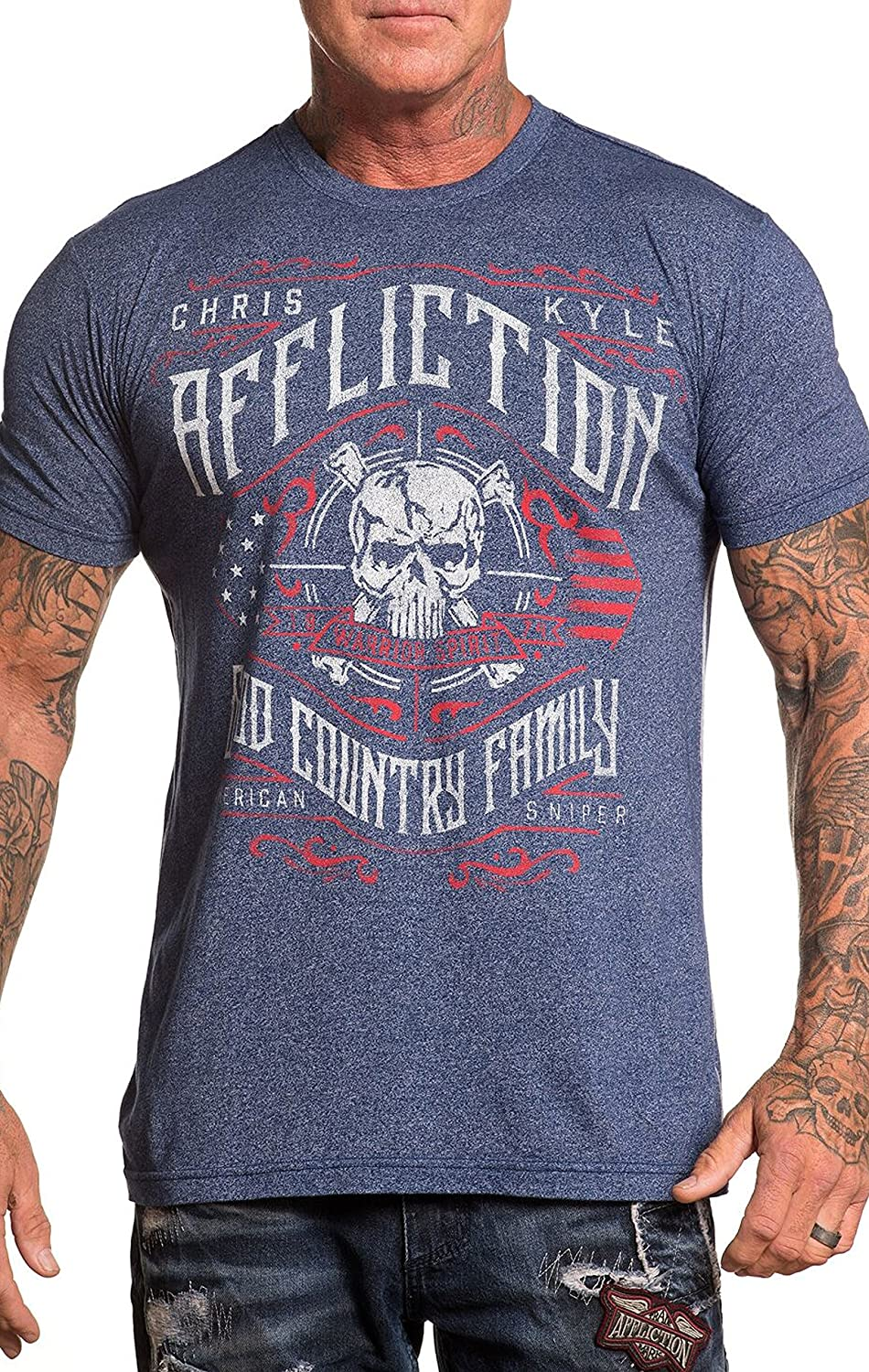 Affliction Chris Kyle Special Ops Short Sleeve Fashion Graphic T-Shirt for Men