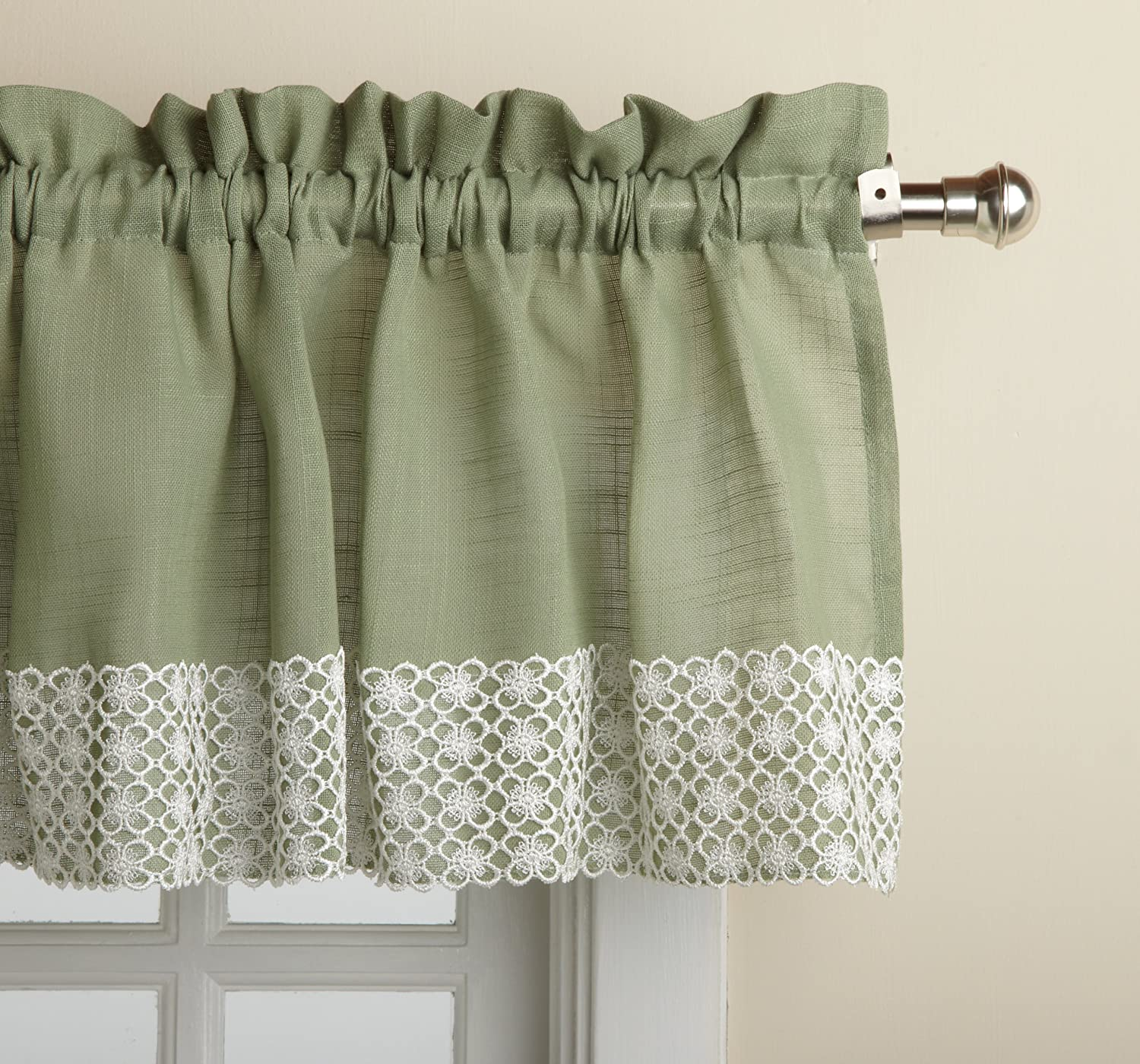 Lorraine Home Fashions Salem 60-inch x 12-inch Tailored Valance, Sage