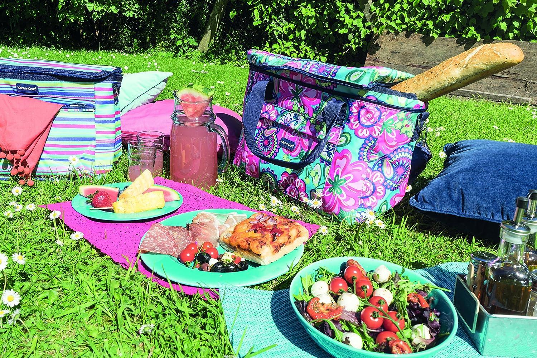 Kitchen Craft We Love Summer Mittelgro/ße K/ühltasche Mit Fliesenmuster M Marineblau//Wei/ß
