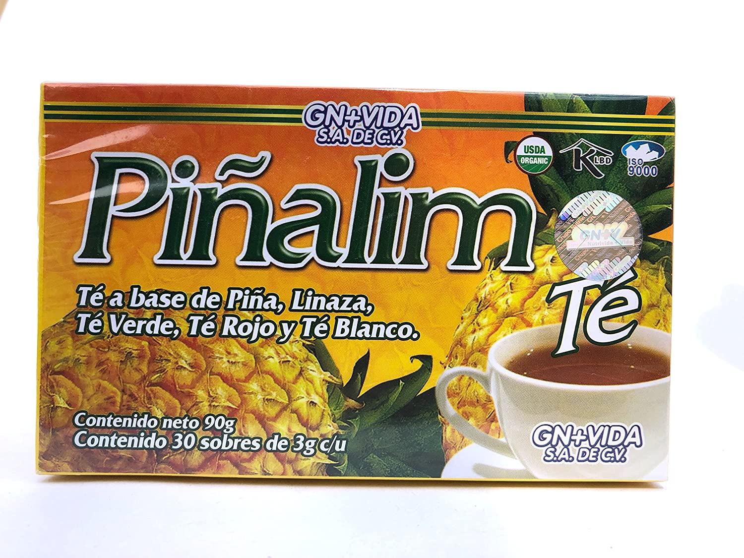 Amazon.com | Pinalim Tea/Te de Pinalim Mexican Version- Pineapple, Flax, Green Tea, & White Tea - 30 Day Supply: Cups, Mugs, & Saucers