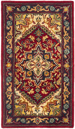 Safavieh Heritage Collection HG625A Handmade Traditional Oriental Heriz  Medallion Red Wool Area Rug (2u0027