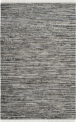 Safavieh Rag Rug Collection RAR128A Hand Woven Grey Cotton Area Rug 3 x 5