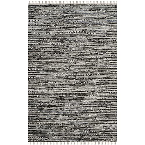 Safavieh Rag Rug Collection RAR128A Hand Woven Grey Cotton Area Rug 3 x 5