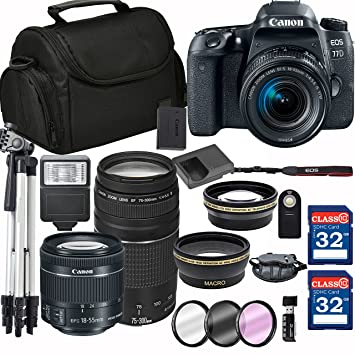 Amazon.com: Canon EOS 77d cámara réflex digital + 18 – 55 mm ...