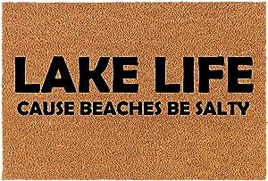 Coir Doormat Front Door Mat New Home Closing Housewarming Gift Lake Life Funny (30