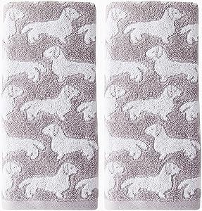 SKL Home by Saturday Knight Ltd. Dog 2 Pc Hand Towel, Gray