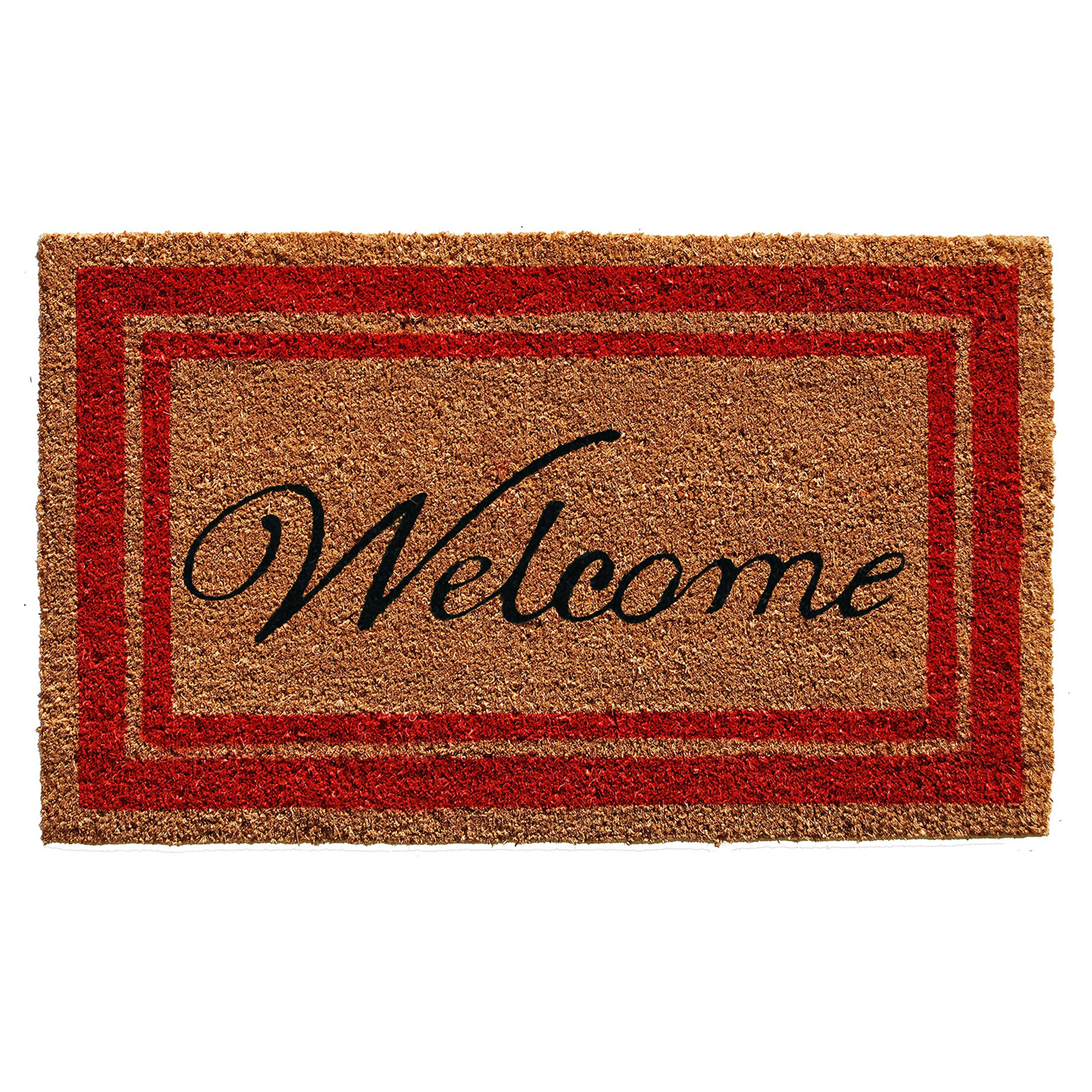 Home & More Border Welcome Doormat 18'' x 30'' (Red)