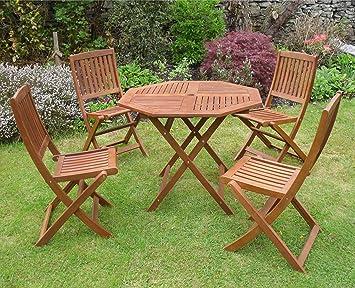Canterbury 4 de madera muebles de jardín diseño cilíndrico ...