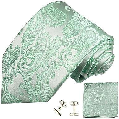 Paul Malone - Corbata de seda, diseño de cachemira, color turquesa ...