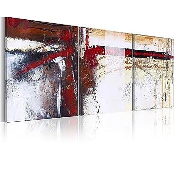 murando - handgemalte Bilder auf Leinwand Abstrakt 120x50 cm - 3 ...