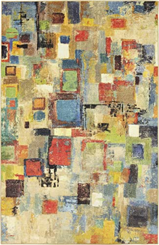 Mohawk Home Prismatic Saratoga Abstract Printed Contemporary Area Rug, 8 x10 , Multicolor