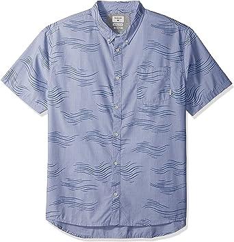 Quiksilver Mens Valley Groove Short Sleeve Woven