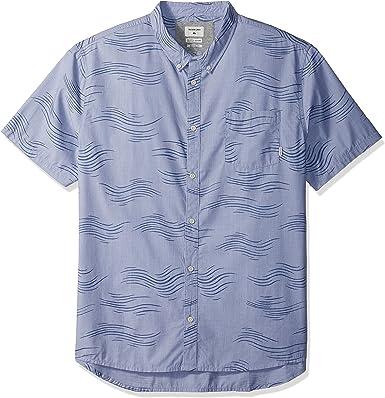 Quiksilver Valley Groove - Camisa de manga corta con botones para hombre: Amazon.es: Ropa y accesorios
