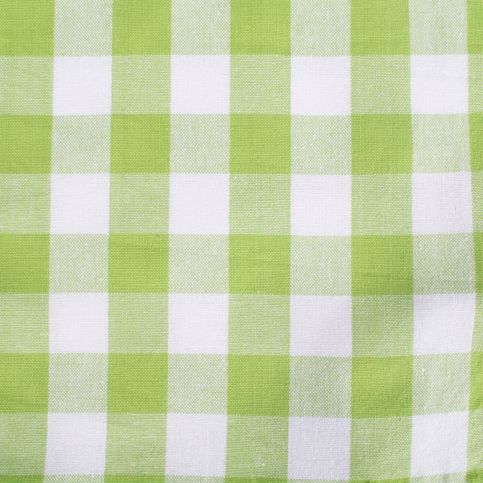 DII 100% Cotton, Oversized Basic Everyday 20x 20 Napkin, Set of 6, Green Apple Check by DII (Image #3)