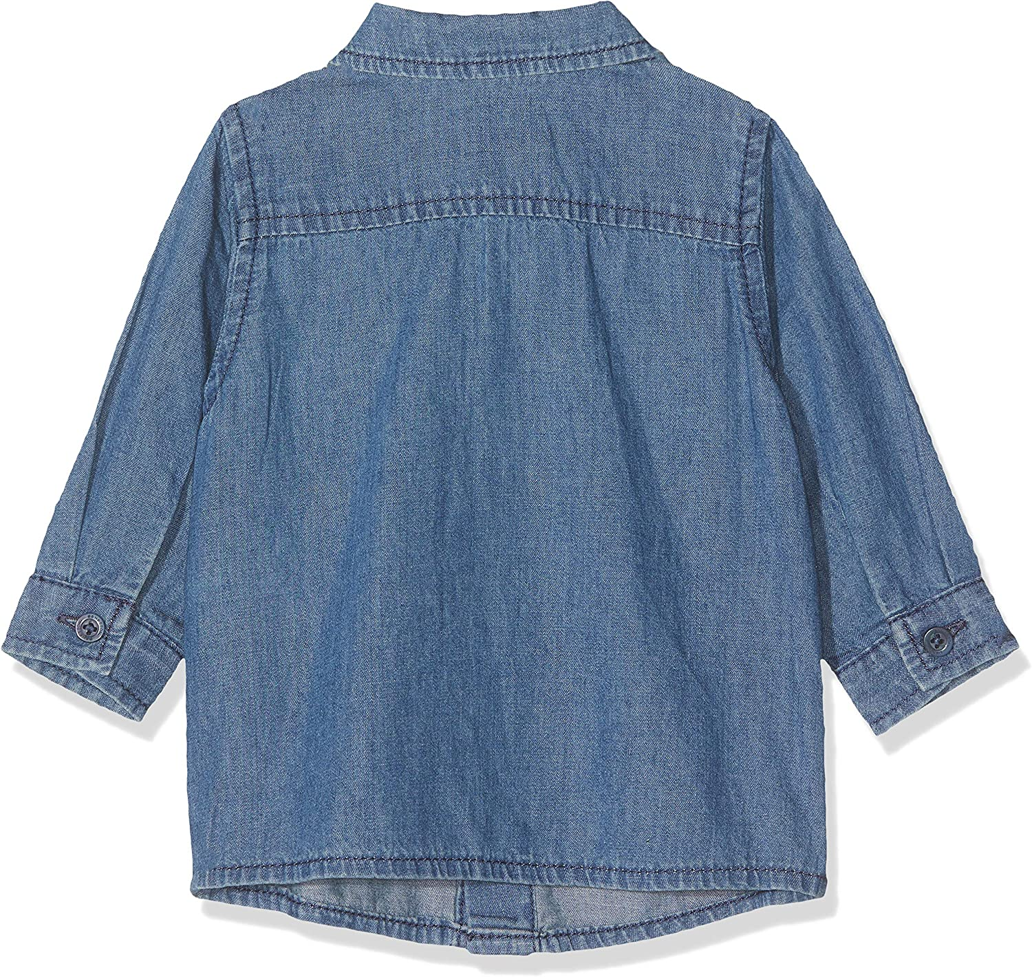 United Colors of Benetton Baby-Jungen Camicia Chambray Freizeithemd