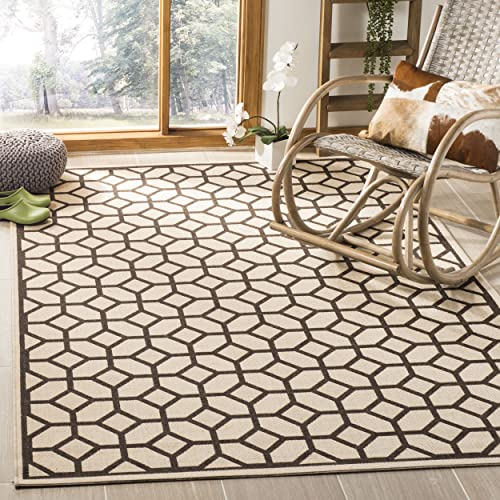 Safavieh Linden Collection Premium Wool Square Area Rug, 6 7 , Natural Brown