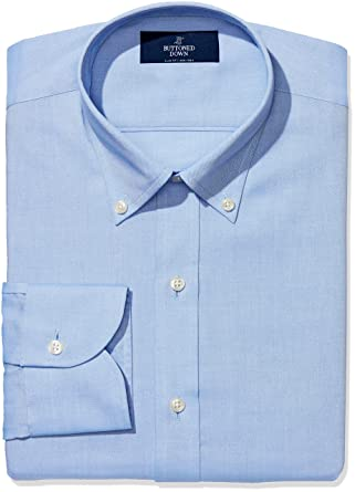 Buttoned Down Men's Slim Fit Button-Collar Non-Iron Dress Shirt (No Pocket