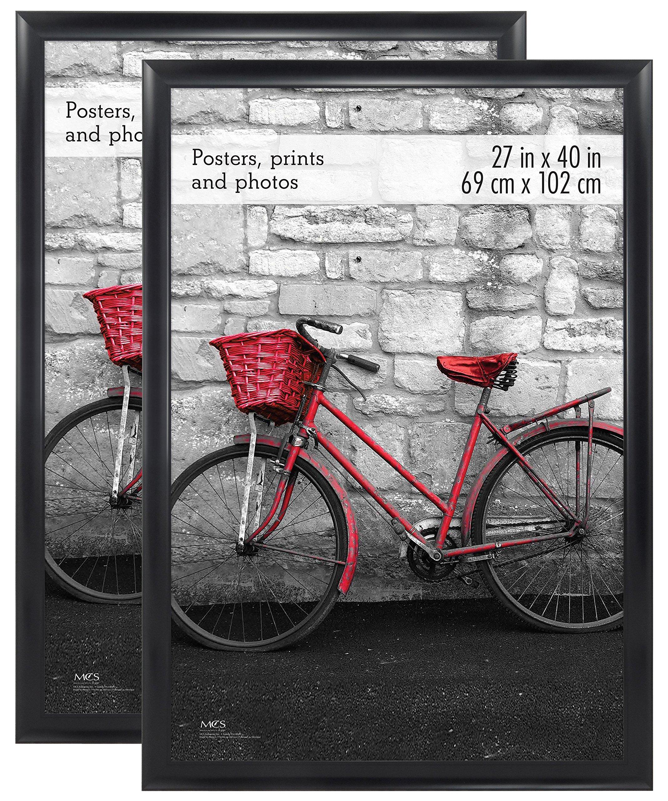 MCS 27x40 Inch Wide Scoop Poster Frame (2pk), Black, (65699)