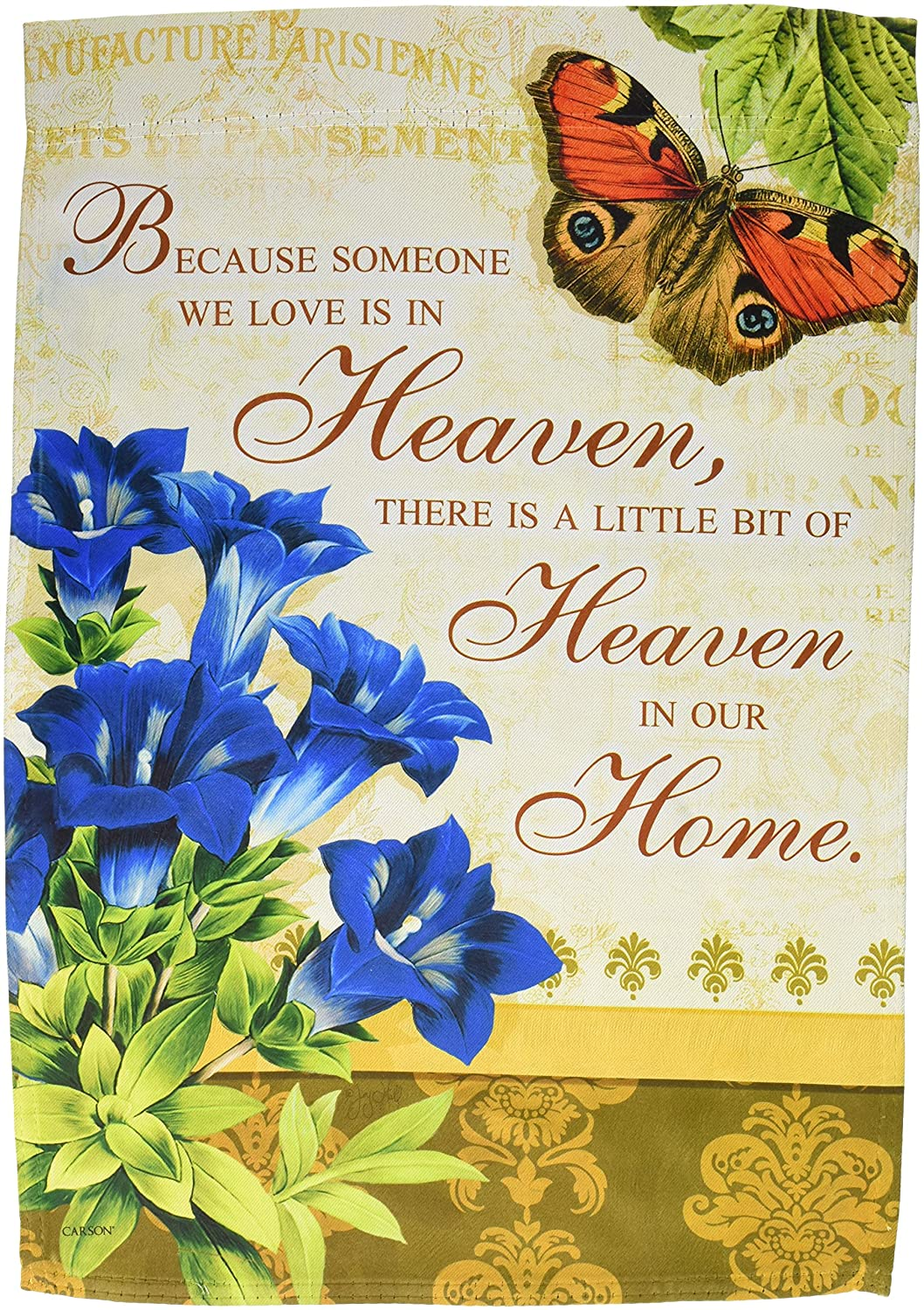 Carson Home Accents Garden Flag, Heaven in Our Home