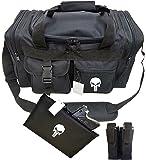 2ND AMMENDMENT Tactical Duffel Bag Gun 17 Inches Range Bag Gym Shooters Pistol Bag Punisher Skull