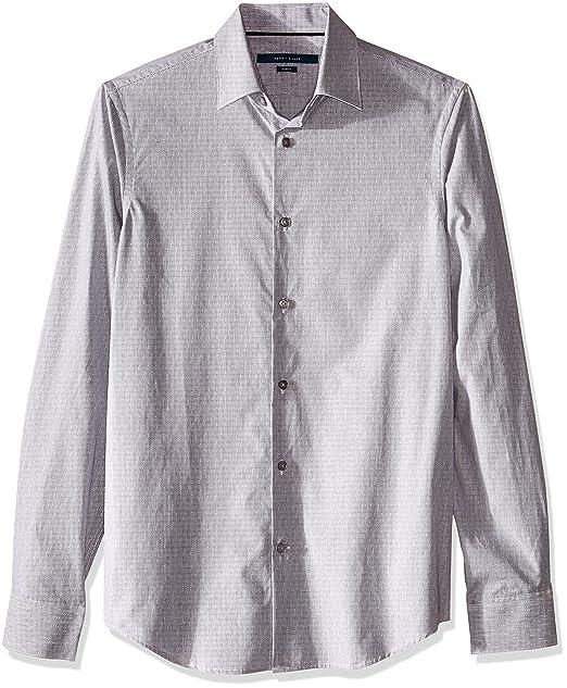 11aad9d08 Perry Ellis 4BSW8007 Camisa de Manga Larga para Hombre, Color Gris Rata, M