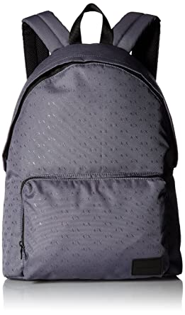 0bba7517f02a Armani Exchange Men s Light Weight Dobby Nylon All Over Logo Backpack