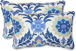 Pillow Perfect Outdoor/Indoor Santa Maria Azure Lumbar Pillows, 11.5