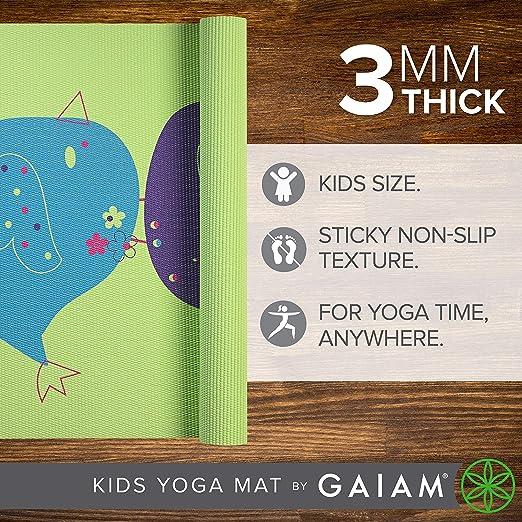 Gaiam - Esterilla de Yoga para niños - 05-62134, Birdsong ...