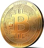 innoGadgets Moneda física de Bitcoin revestida en Oro auténtico de 24 Quilates. Una verdadera Pieza de coleccionista…