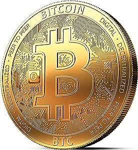 Moneda física de Bitcoin revestida en oro auténtico de 24 quilates. Una verdadera pieza de coleccionista – Colección 2018. Una adquisición obligada para todo fanático del Bitcoin: Amazon.es: Juguetes y juegos