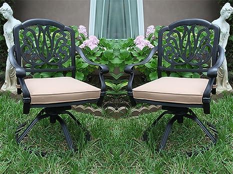 Amazon.com: Un par de 2 silla giratoria de balancines brazo ...