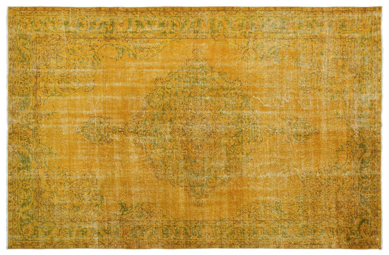 Bespoky ビンテージ 手織 ラグ 黄 大きいサイズ 200 X 305 Cm B07HN9X4CD