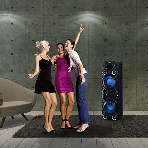 Toshiba TY-ASC400 Large Bluetooth Trolley Wireless High Power Indoor/Outdoor Stereo Speaker System Review