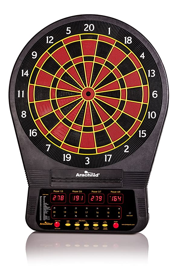 Arachnid Cricket Pro Tournament-Quality Dartboard with Micro-Thin Segment Dividers and NylonTough Segments