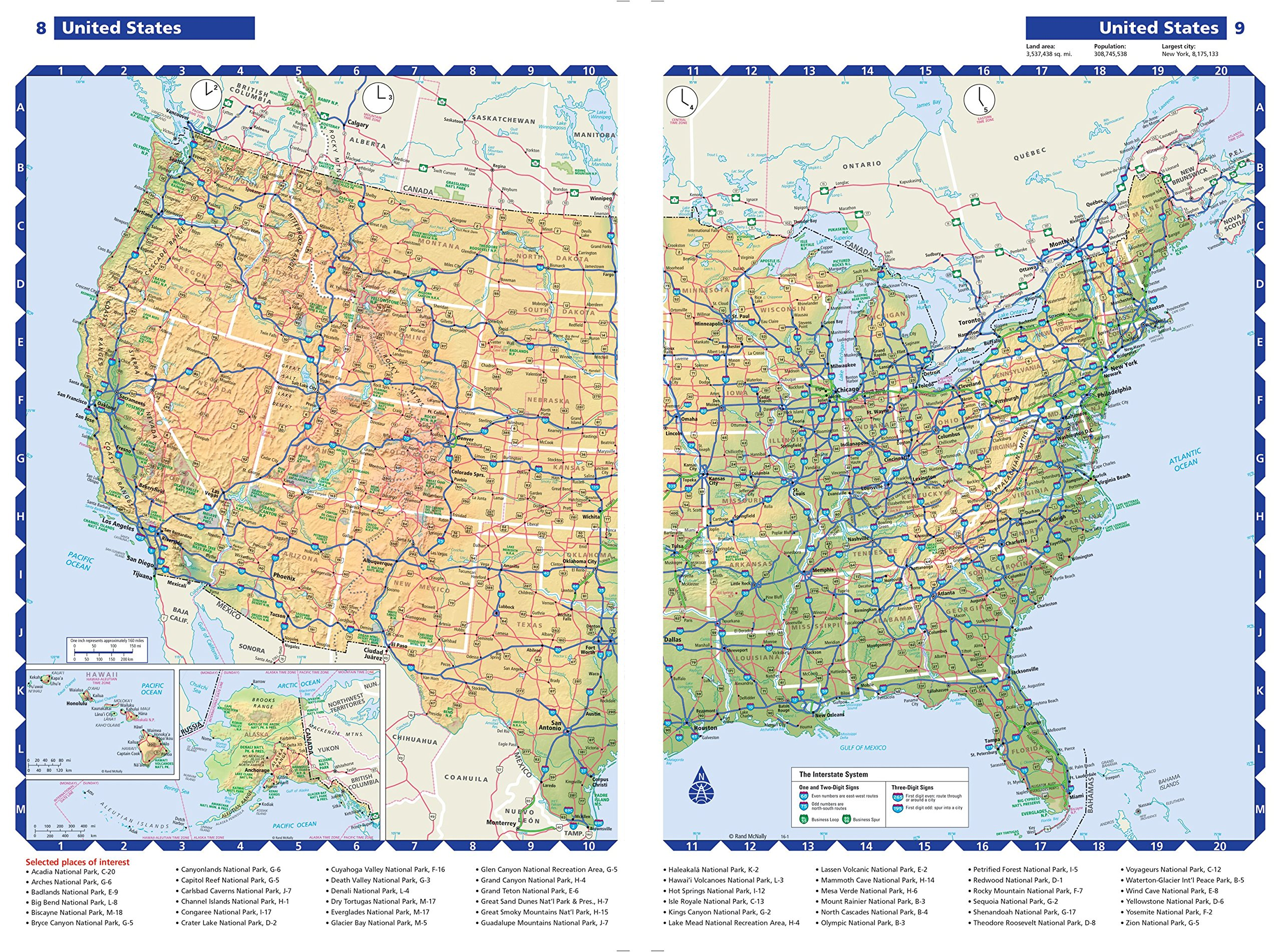 Rand McNally 2016 Road Atlas United States Large Scale Rand