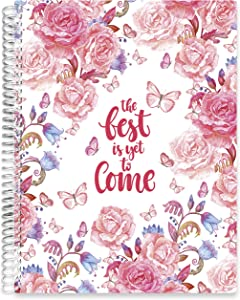Tools4Wisdom Planner 2021 Calendar Year - 8.5x11 Softcover with Monthly Tabs- Dated January to December 2021 Calendar Year (Q1S) - Floral Butterflies