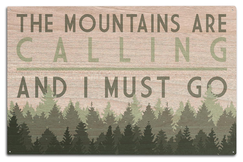 柔らかな質感の The Mountains Are Calling and Wood I x Mountains must go – Pine Trees Canvas Tote Bag LANT-83606-TT B076PT9GR9 10 x 15 Wood Sign 10 x 15 Wood Sign, 江戸切子江戸硝子 太武朗工房:aba53760 --- 4x4.lt